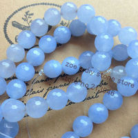 1Strand/Pack 10MM Sky Blue Natural Stone Loose Bead Strands Jewelry Beads Accessories