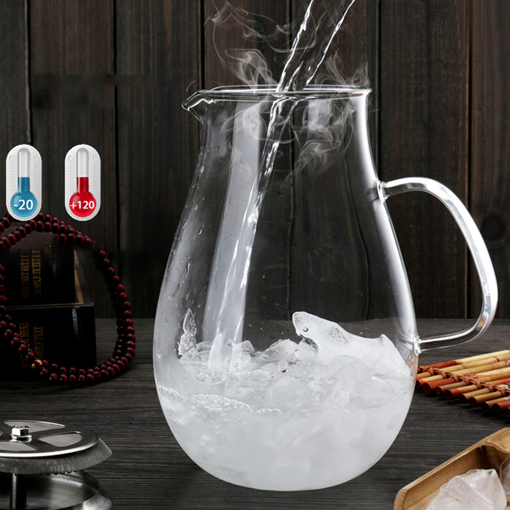 3in1 pindefang 2.0l Ice Чай кувшин + 2X400 мл Giftset боросиликатного Стекло бутылка для воды современный Посуда для напитков дома сок посуда