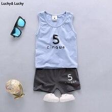 Garçons vêtements sport costume coton enfants vêtements sleelveless gilet + shorts enfants vêtements pour filles et garçons 2 pcs vêtements ensemble