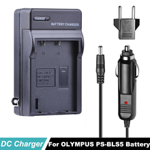 лучшая цена BLS5 PS BLS-5  PS-BLS5  Car Charger + EU Adapter For OLYMPUS E450 E600 E620 EP1 EP2 EP3 EPL1 EPL2 EPL3 EPM2 EPL5 EPL6 Camera