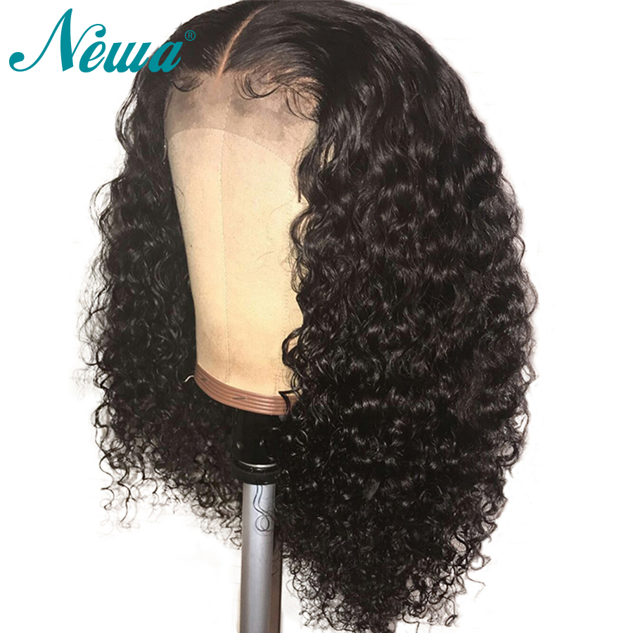 Newa Hair Curly Full Lace Human Hair Wigs Pre Plucked Bleached Knots Glueless Brazilian Remy Hair Full Lace Wig With Baby Hair