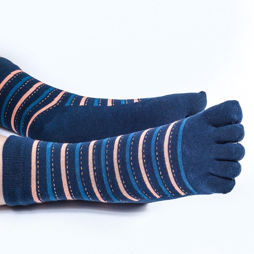 20c15b9c275cd 5 Pairs/Lot Fashion Striped Toe Socks Men 2017 Novelty White Socken Male  Fun Sox Five Fingers Soks Anti Beriberi Bacterial Sweat-in Men's Socks from  ...