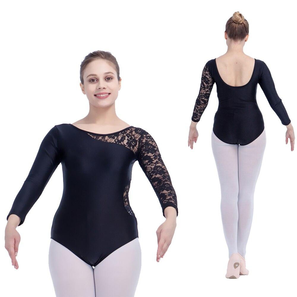 80d409fb87436e Image Dancer s Choices Black Gymnastics Nylon Lycra One Lace Sleeve Dance  Leotard White Girls Ballet