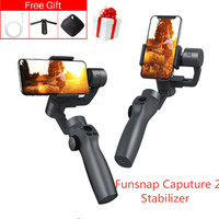 Funsnap Caputure 2 Smartphone Stabilizer 3 Axis Gimbal Sport Action Camera Handheld for IOS Andriod Gopro 7 6 5 EKEN Yi