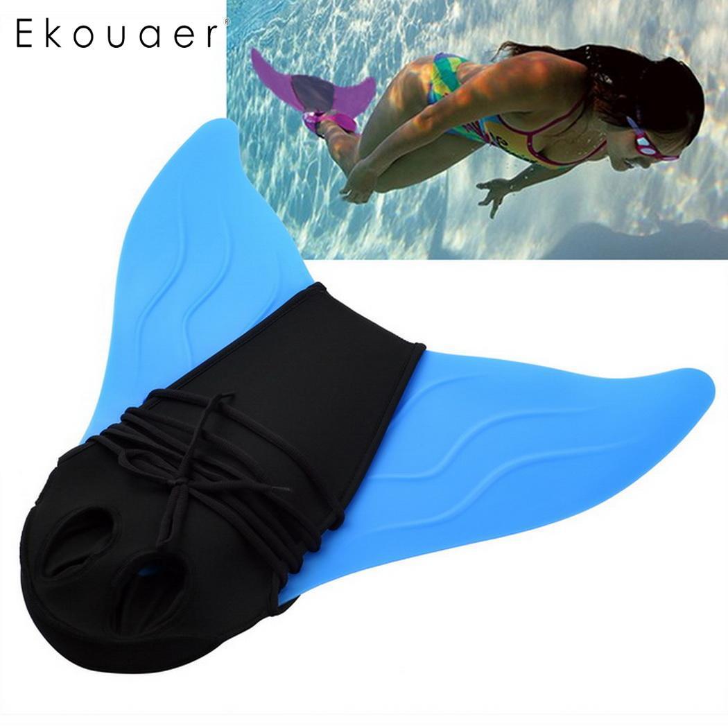 Niños adultos las aletas de natación de formación de los niños Flipper monoaleta sirena nadar Fin piscina pie Flipper buceo pies cola monoaleta nuevo