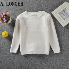 цены New 2017 Spring Autumn Leisure Style Girl Boys Sweater Baby Girls Cute Sweater Kids Boutique Knitted Cartoon Rabbit Sweater
