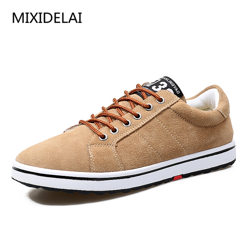 MIXIDELAI Men's Leather Casual Shoes Classic Fashion Male Lace up Flats Black Men Krasovki Flat Heel Sneakers tenis masculino 2017 male tenis flats lace up men casual shoes mens trainers flat goose shoes comfortable sport zapatillas hombre basket femme
