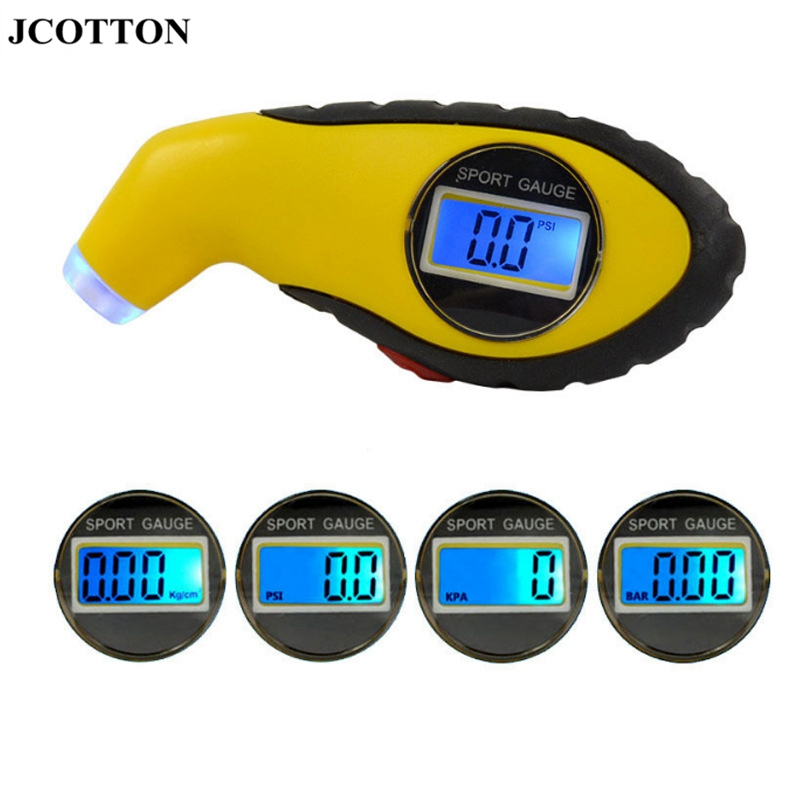 JCOTTON Digital Tire pressure monitoring LCD display Tire Pressure sensors tyre Pressure Meter Gauge with 4