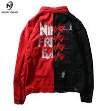 Mens Hip Hop Jeans Jacket Coat Wear Unlined Denim Trucker Rugged Asian size M-XXL