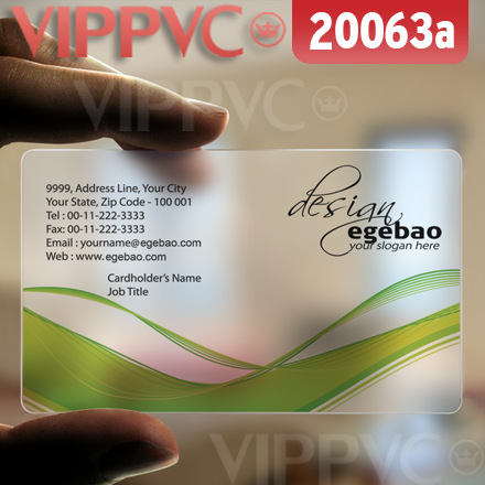 20063 business cards overnight - matte faces transparent card thin 0.36mm