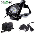 6000 Lumen CREE XMLT6 LED Headlamp Flashlight Zoomable Camping Fishing,Front Bicycle Light +6400mAh Battery Pack+Charger