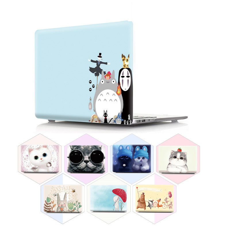 Vmonv Animal Cat Hard Laptop Case for MacBook Air Pro Retina 11 12 13 15 Inch Cover for Macbook Pro 13 15 New A1706 A1707 A1708 цена 2017