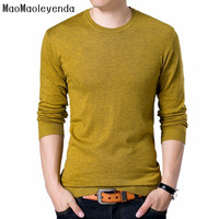 maomaoleyenda Fashion Solid Men's Sweater 2018 Autumn New O neck Black Sweater Mens Jumpers Male Pollover Knitted Polo Shirt