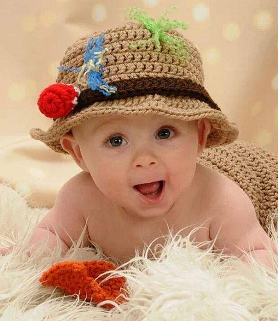 Bebê recém nascido Crochê Pescador Conjunto com Peixes Pesca Costume  Fotografia Props Newborn Crochet Do Bebê Chuveiro Dom MZS 15070 em Toucas e  Bonés de ... ddeb98e26b5
