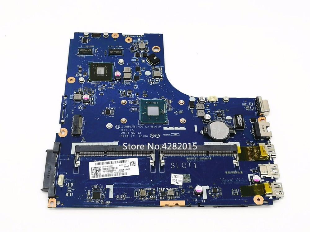 Free Shipping ZIWB0 B1 E0 LA B101P Laptop motherboard For Lenovo B50 30 main board Notebook