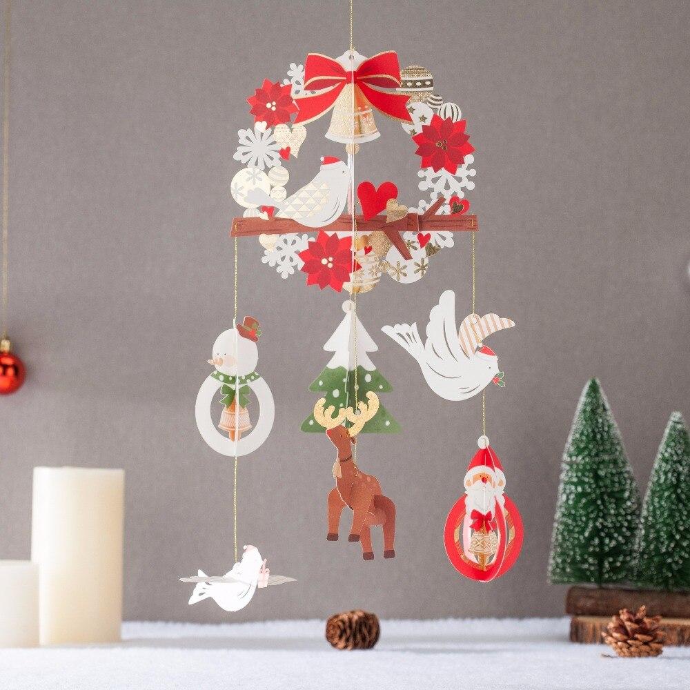 WISHMADE Christmas Card Message Cards Postcards Pop Up Deer Birds ...