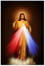 Divine Mercy Image Love Jesus Christ Motivational Art Wall Decor Silk Print Poster