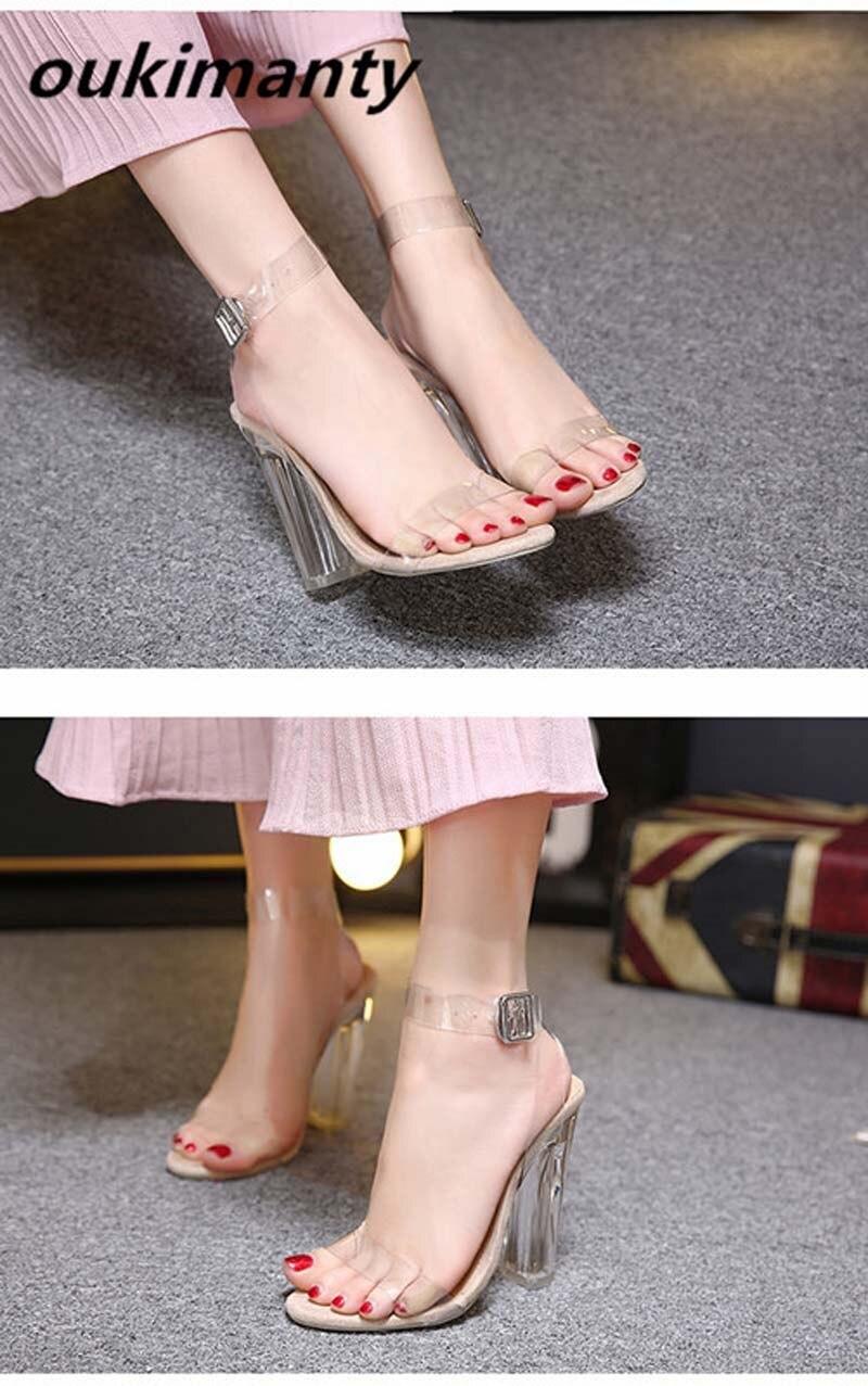 Großhandel Mode Plexiglas Klar PVC Mit Kristall High Heels