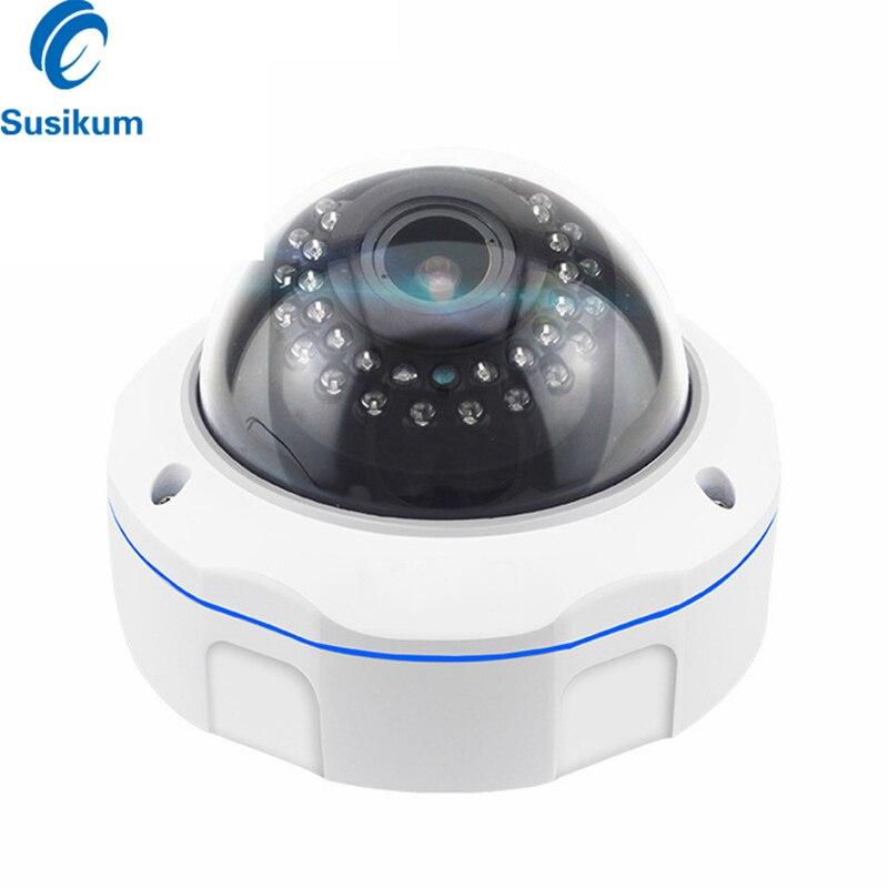 Caméra IR AHD dôme anti-vandalisme 2MP 4MP 2.8-12mm lentille varifocale Zoom manuel Surveillance caméra de vidéosurveillance avec Menu OSD