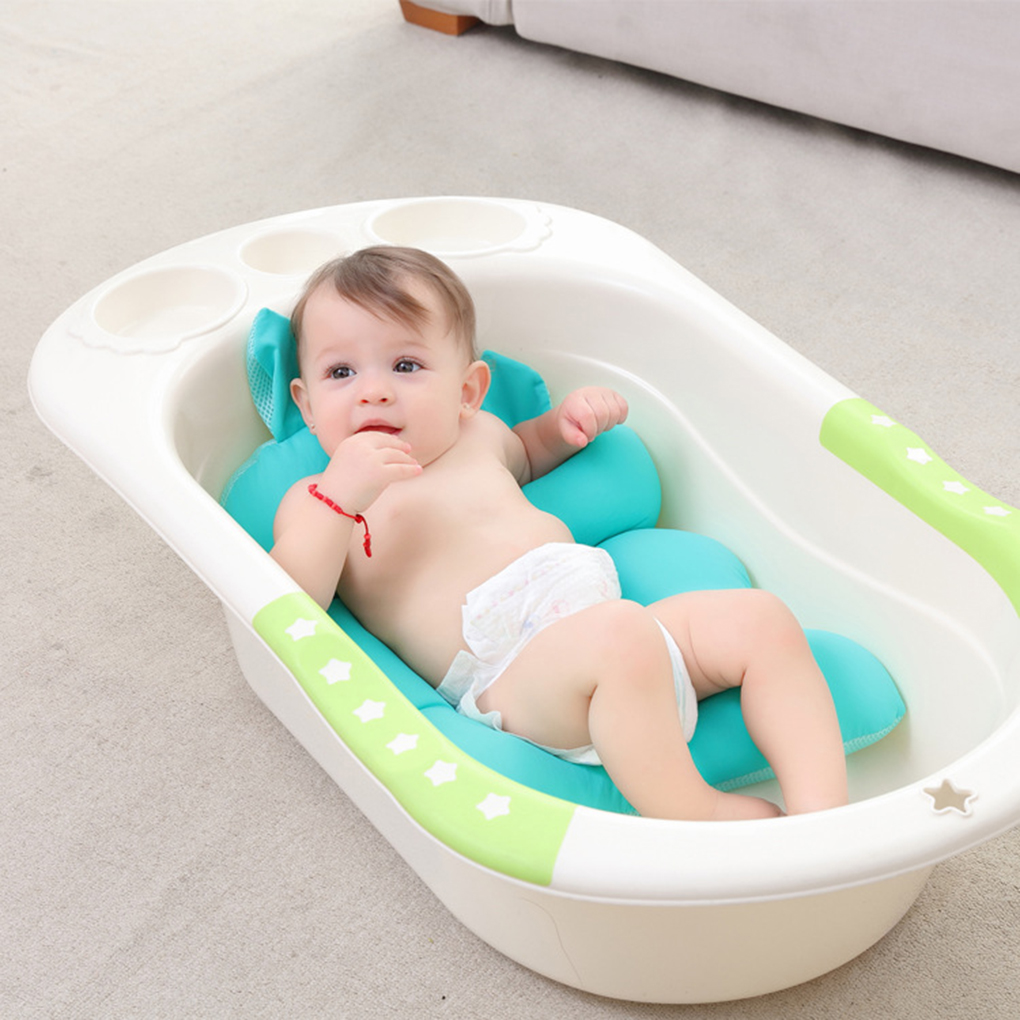 ᑎ‰Baby Newborn Anti-skid Bathtub Mesh Non-Slip Bathtub Foldable ...