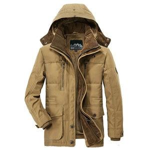 Image 3 - Winter Jacket Men Thick Warm Hooded Parka Military Cargo Mens Winter Coat Warm Fleece Male Overcoat Plus Size M  5XL