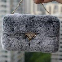 Luxury Real Top Rex Rabbit Hair Fur Plush Soft Bling Flip Diamond Leather For Iphone 6