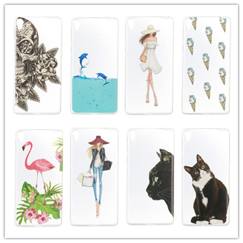 12 Types Phone Cases Silicon Soft TPU Protective Case For Sony Xperia E5 Cover For Sony E5 E 5 5.0