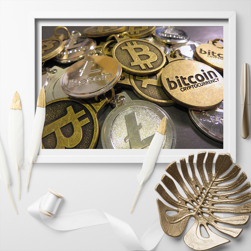 CANVAS Bit Coin Poster Art Print POSTER
