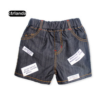 children surf beach shorts kids denim cotton baby boys loose solid board shorts 2-8y children clothing jeans shorts for boys
