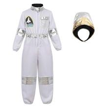 ילדים תחפושות אסטרונאוט Spaceman סרבל טיסה להתלבש תלבושות עם קסדת אסטרונאוט תפקיד לשחק סטי עבור בני בנות קוספליי