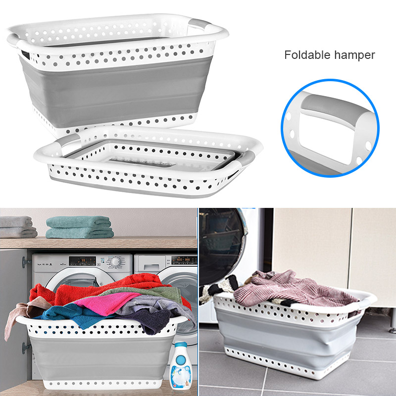 Collapsible Laundry Basket Space Saving Folding Cloth Washing Storage Container WXV Sale(China)