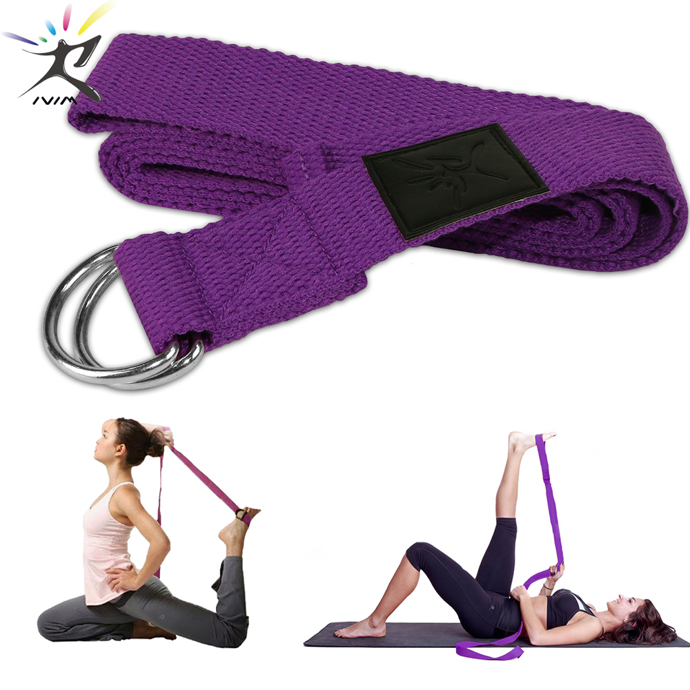 Yoga Stretch Strap Adjustable Sport Yoga Belts D-Ring Fitness Gym Strap Arm Legs Waist Exercise Training Rope Resistance Bands