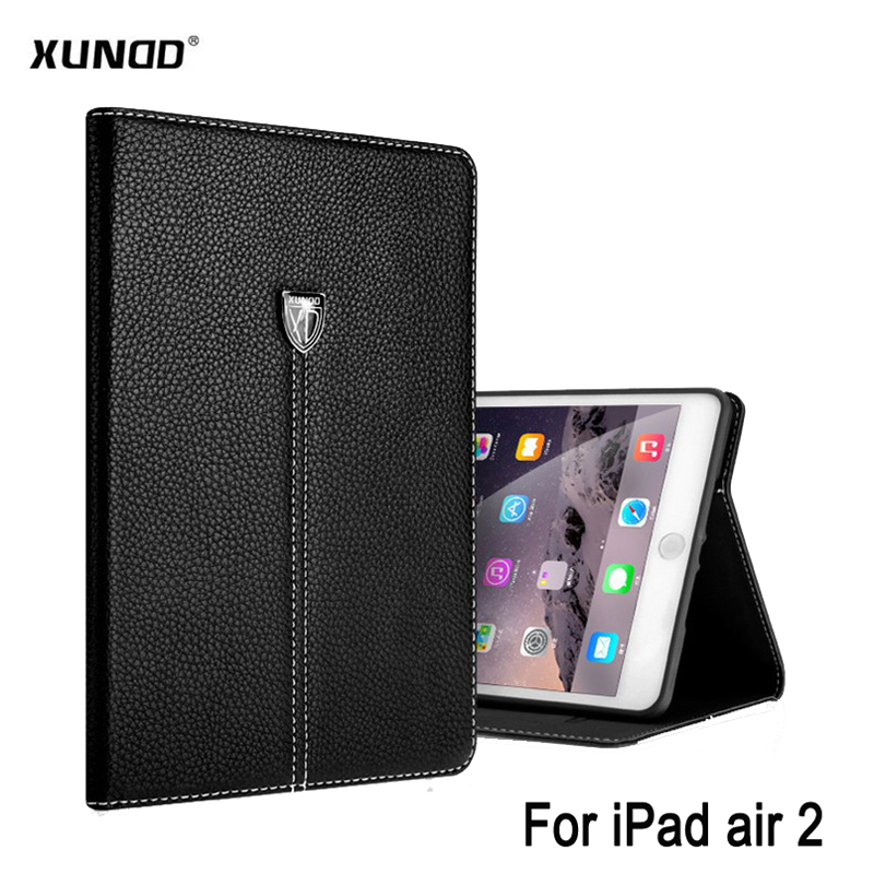 Xundd for ipad air 2 cover case Noble Business Shockproof Flip Wallet Stand Smart Cover Vintage Leather Case for ipad 6 Shell leather case flip cover for letv leeco le 2 le 2 pro black