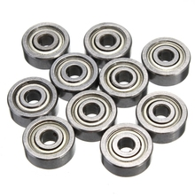 10Pcs 623ZZ Bearing 623 ZZ 3x10x4mm Miniature Deep Groove Ball Bearing for 3d printer Shielded Silver