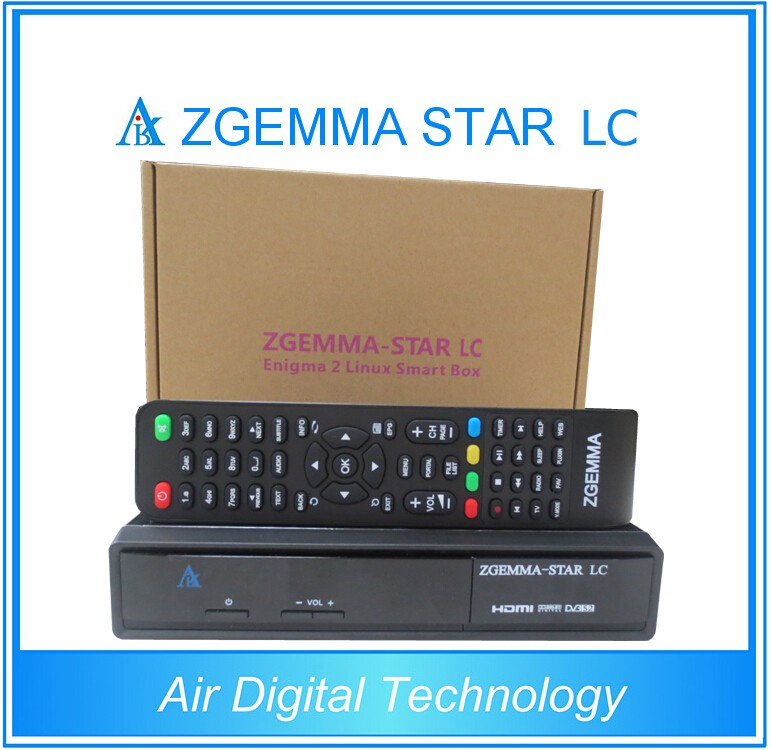 20pcs/lot Official Full Channels Softwares Zgemma-Star LC FTA Satellite Receiver Linux OS Enigma2 Updated DVB-C One Tuner
