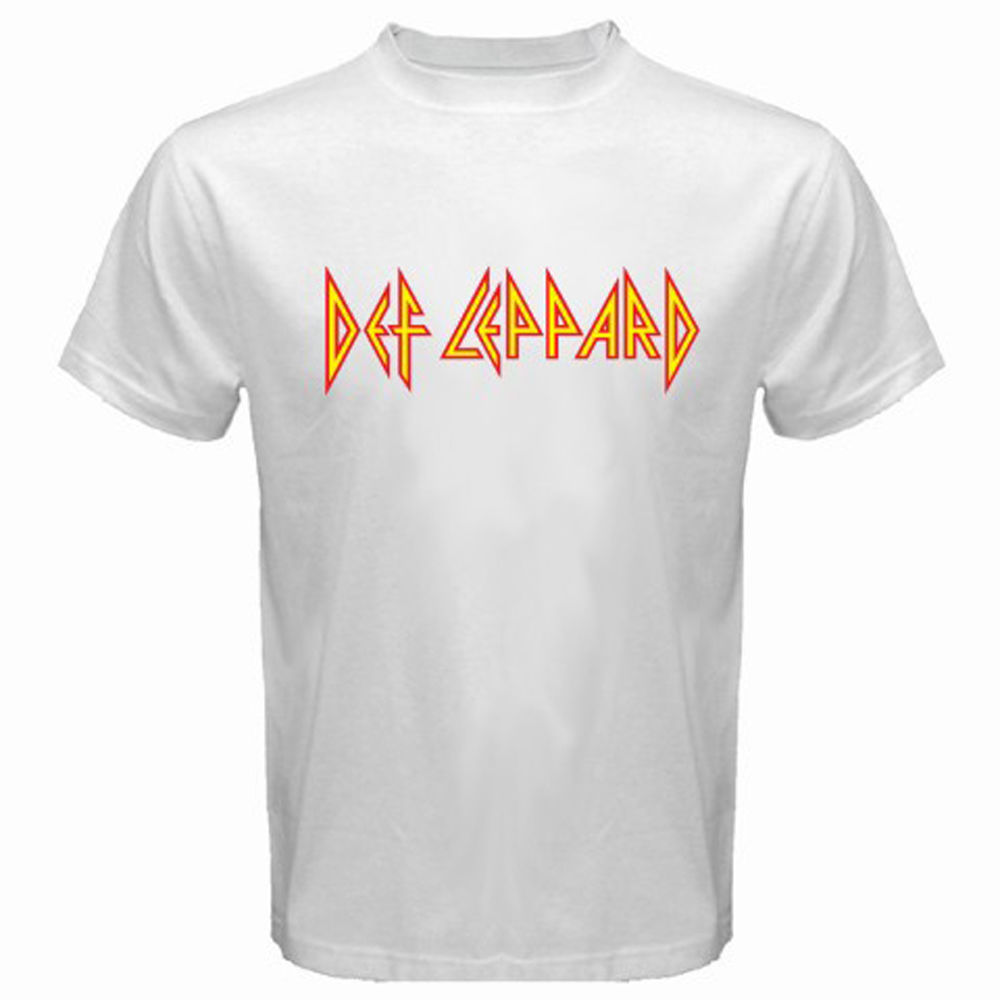 Design t shirt logo online - New Arrivals Men S Def Leppard Logo Retro Rock Band Legend Design T Shirt Male Fashion Cool