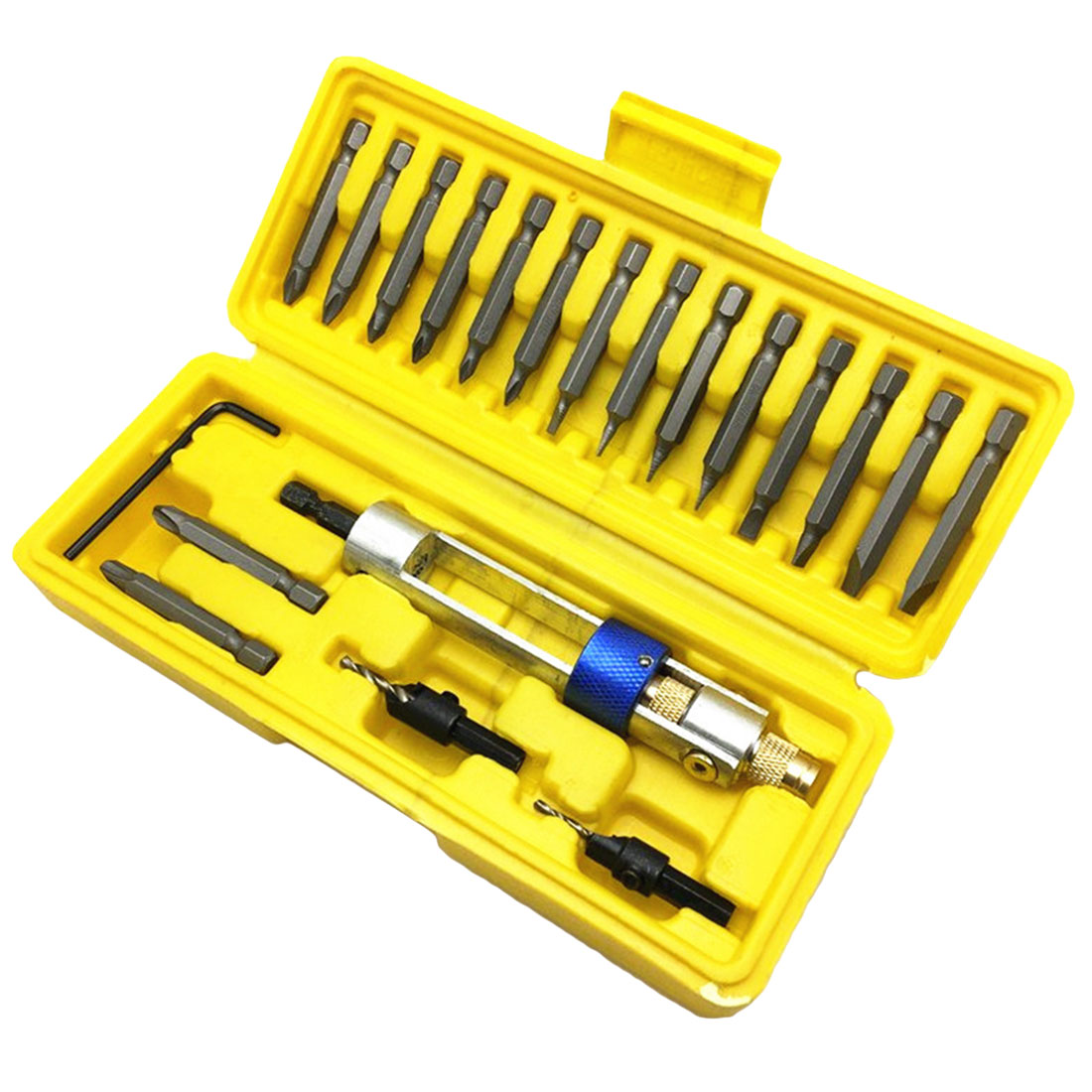 16 Different Kinds Head Screwdriver Sets 20Pcs Half Time Drill Driver Updated Version with Countersink Bits image