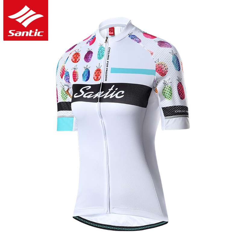 Santic Women Cycling Jersey Pro Mountain Road Bike Jersey Summer Short  Sleeve Bicycle Jersey Breathable Cycling Clothing -in Cycling Jerseys from  Sports ... 3bdd937c1