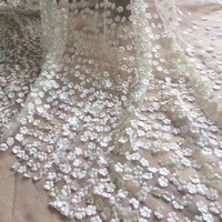 3D lace fabric 15yard fashion white african lace fabric 2019 high quality 3d flower fabric for party RG169