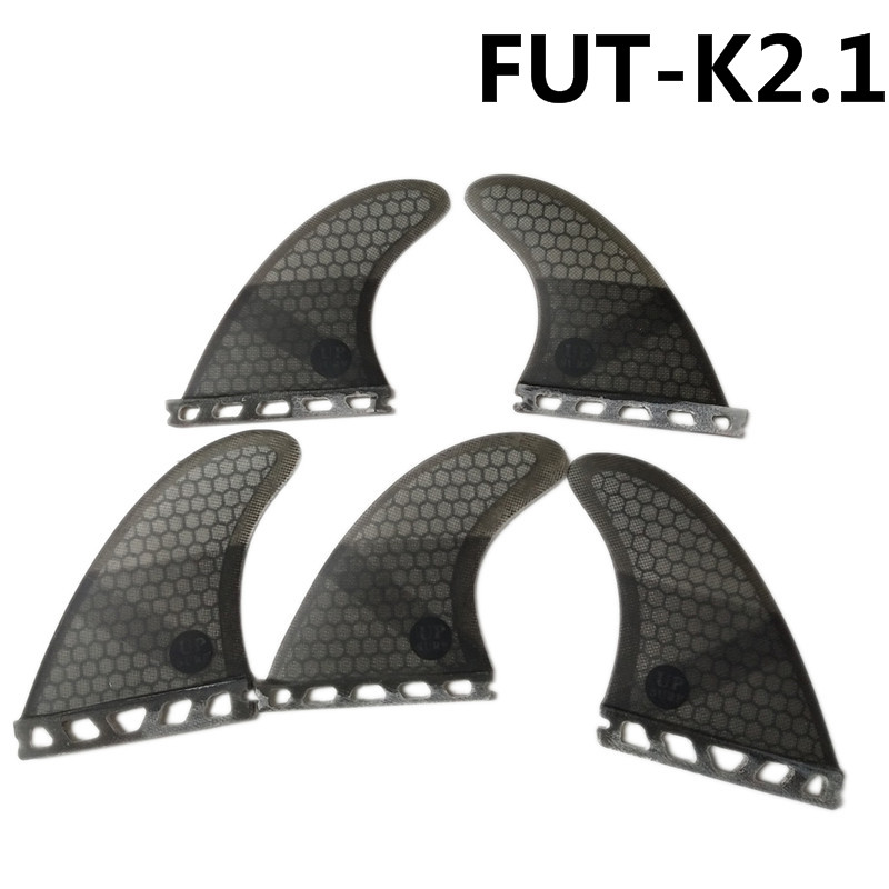Surf Future Fin K2.1 Surfboard Fins Black Color Fiberglass Honeycomb Tri-Quad Fins Quilhas Thruster 5 Fin Set