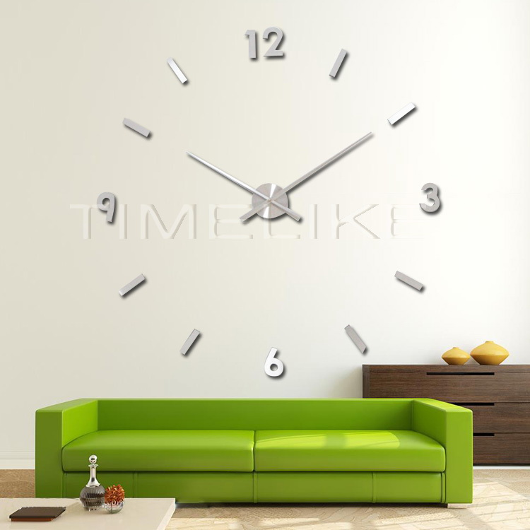 Wedding Decoration 3d Wall Sticker Clock Diy Large Clock Hands Red