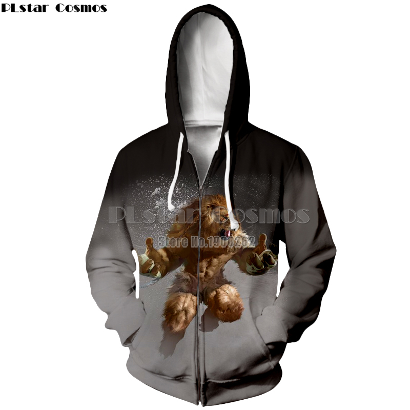 PLstar Cosmos brand Lion Animal Style New Style fashion style Hoodies Hooded zipper Hoodie Funny Women Men in Hoodies amp Sweatshirts from Men 39 s Clothing