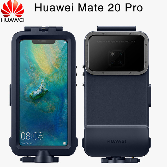 Official Original Huawei Mate 20 Pro Case Waterproof Case Swimming Snorkeling Protective Cover Mate20 Pro Diving