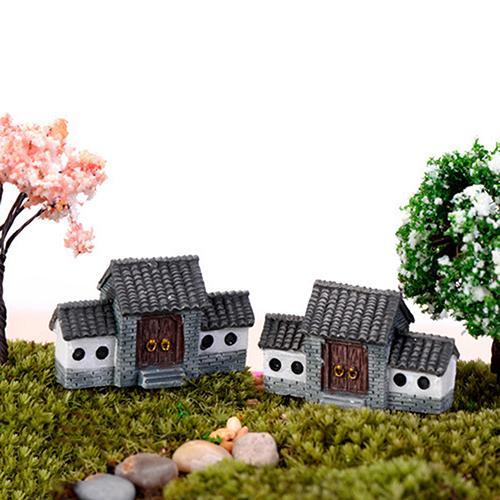 Dollhouse Miniatures DIY House Villa Woodland Fairy Planter Garden Home  Decor