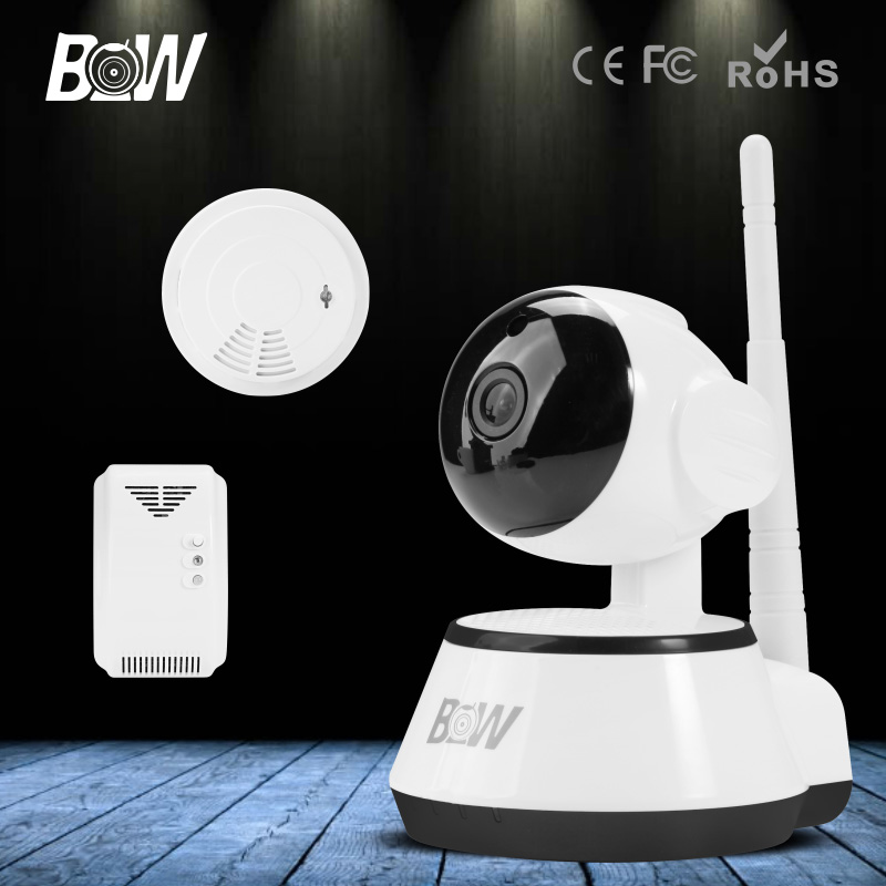 BW Wireless IP Camera Portable with SD Card Slot Plug Play WIFI Surveillance Security CCTV Home Sensor Detector Alarm GSM Webcom bw wireless wifi door