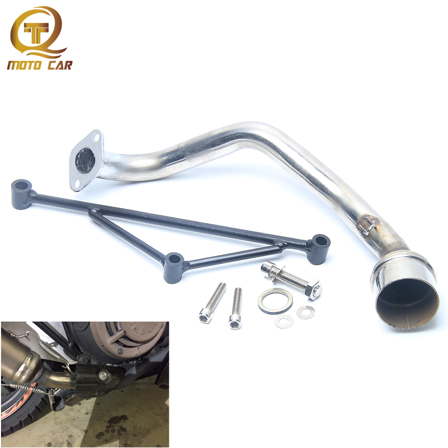 Motorcycle Muffler 125CC Exhaust Pipe Systems Tubo De Escape Gy6 Link Set Scooter Bracket Header For Yamaha 100CC 125CC 150CC
