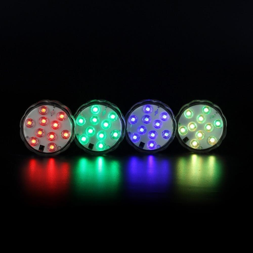 1 * 10-LED RGB Tenggelam LED Light, Pelbagai Warna Kalis air - Pencahayaan perayaan - Foto 2