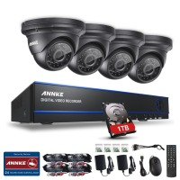 SANNCE 2MP 1080P 4 Channel 1920 1080 DVR AHD Surveillance Kit 4PCS 3000TVL Outdoor Night Vision