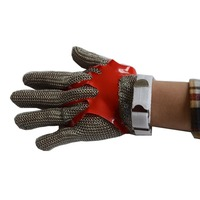 Steel ring stainless steel glove butcher Cut resistant gloves level 5 work chain mail armor