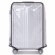 f147bd1798da2 AEQUEEN Toza Bagaj Koruyucu Kapak Su Geçirmez Bagaj Kapağı Şeffaf PVC  Arabası Bavul Kapak Seyahat Kılıf